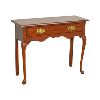 Henkel Harris Solid Cherry Queen Anne 1 Drawer Console Table