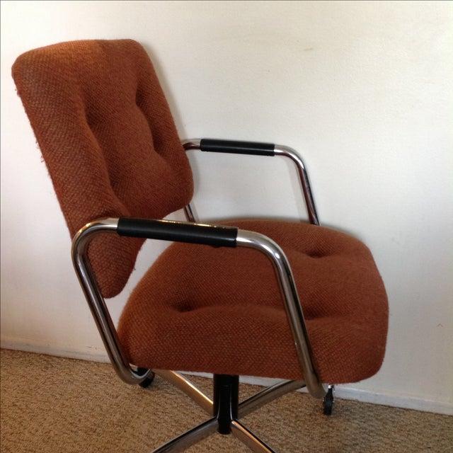 Vintage Orange Tweed Steelcase Office Chair - Image 7 of 9