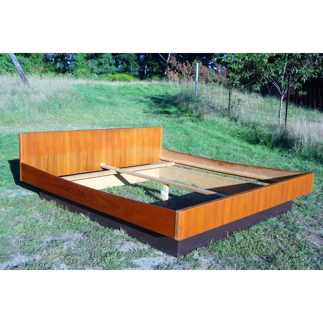 Danish Modern Teak King Platform Bed - Image 2 of 11