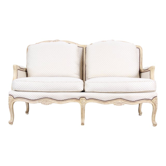 Astounding Baker Furniture French Louis Xv Style Carved Loveseat Ncnpc Chair Design For Home Ncnpcorg