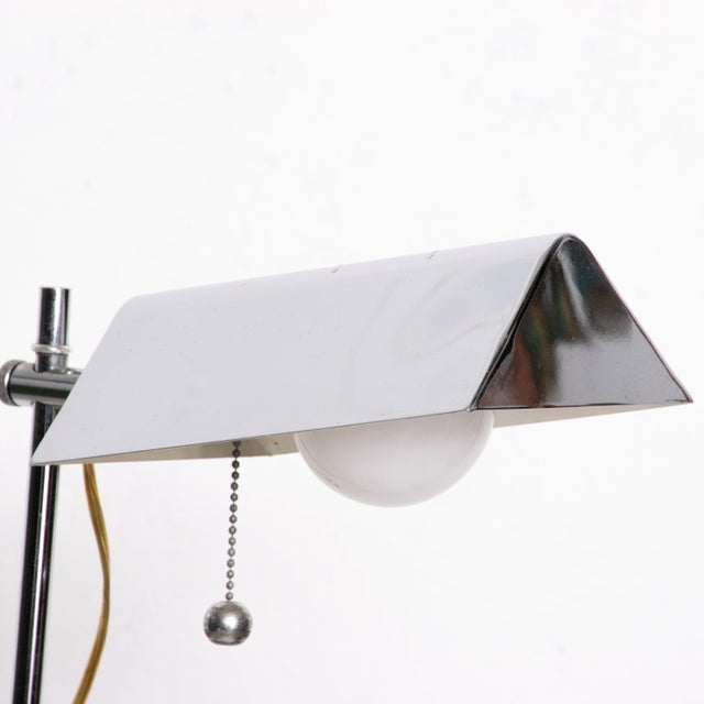 Mid-Century Modern Chrome Reading Floor Lamp After Koch Lowy For Sale - Image 9 of 10