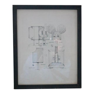 Late 20th Century Claes Oldenburg Four Iconic Sculptures Signed Drawing For Sale