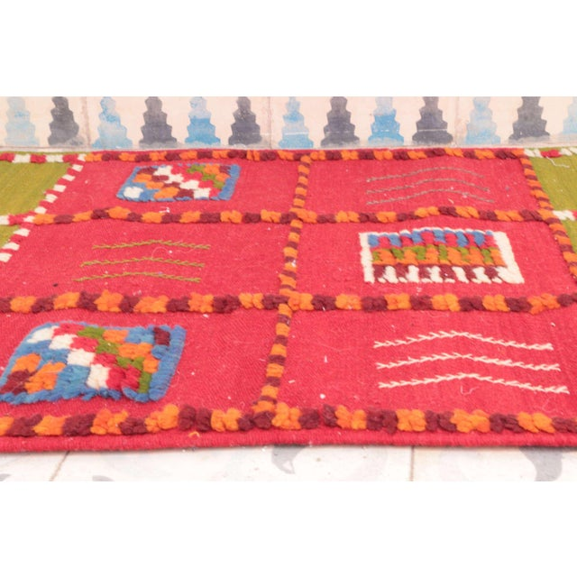 """Islamic Aknif Moroccan Runner Rug - 1'11"""" x 4'11"""" For Sale - Image 3 of 4"""