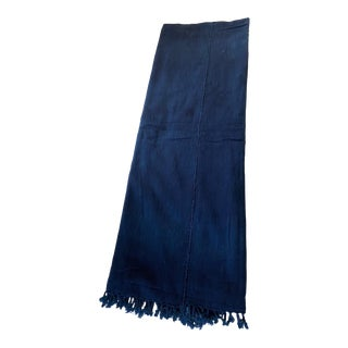 Vintge Cotton African Indigo Cloth Mossi People Burkina Faso For Sale