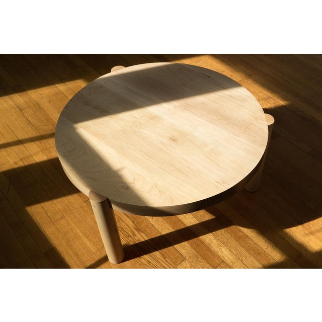 Exploring making a table with bold and heavy shapes that would seem visually light once combined, this coffee table boasts...