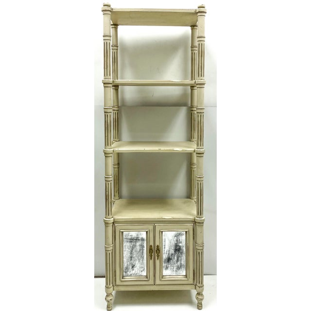 Gustavian (Swedish) Late 20th-C. Gustavian or Swedish Style Etageres / Bookshelves - Pair For Sale - Image 3 of 6
