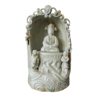 Celadon Niche with Lord Buddha For Sale