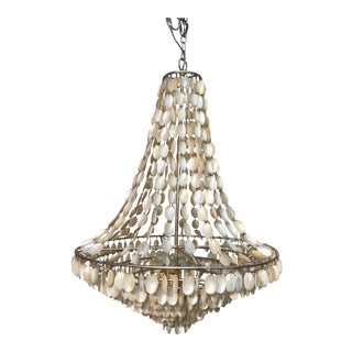 Capiz Shell Bell Shaped Chandelier For Sale
