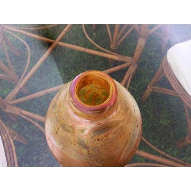 1970s Robert Eicholt Glass Vase For Sale - Image 5 of 7