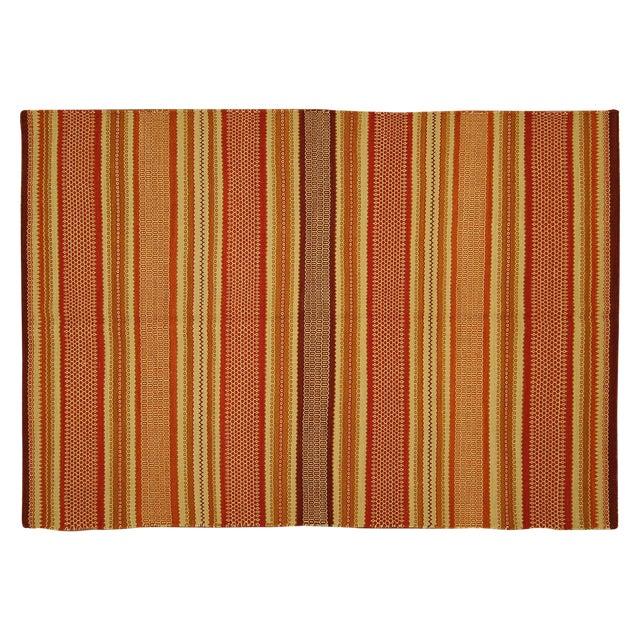 "Multicolor Modern Kilim Rug - 5'7"" x 8' - Image 1 of 6"