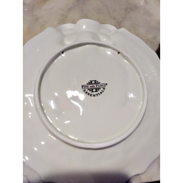 Vintage Fitz and Floyd Christmas Holly Wreath Bow 2 Piece Serving Dish and Sugar Holder For Sale In West Palm - Image 6 of 8