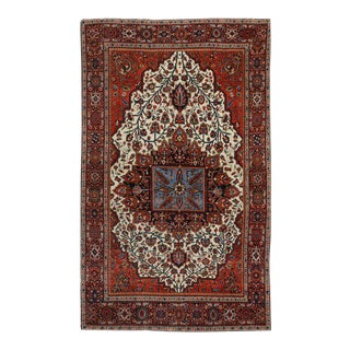 Antique Persian Sarouk Farahan Rug with Modern Style For Sale