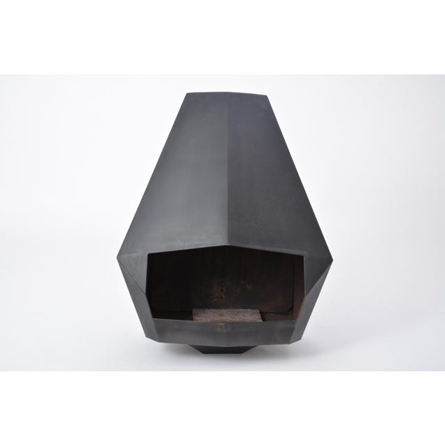 Model 5005 Mid-Century Modern Steel Fireplace From Don-Bar Design, 1970s For Sale - Image 4 of 12