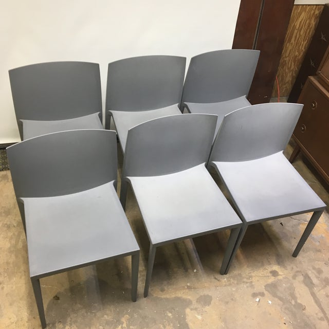 Modernistic Cazzaniga Stackable Chairs - Set of 6 For Sale - Image 13 of 13