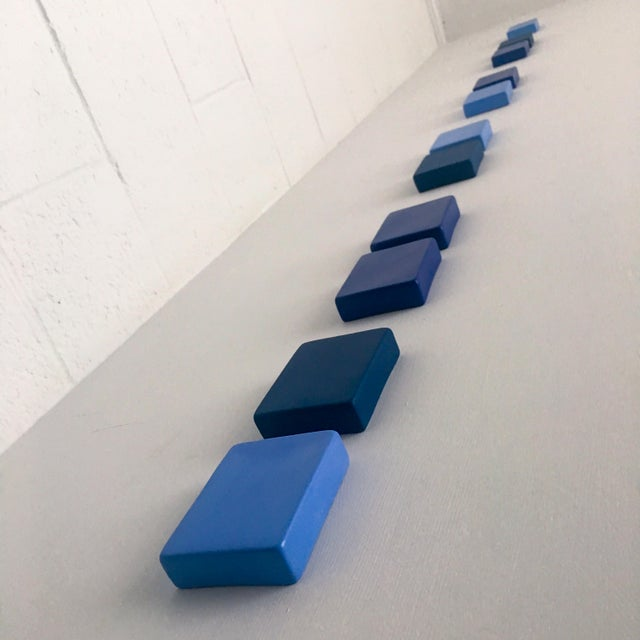 Contemporary Contemporary Meditation of Blue Wall Sculpture by Elysia Vandenbussche For Sale - Image 3 of 4