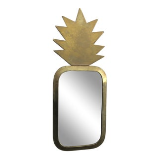 Honore Gold Pineapple Wall Mirror For Sale