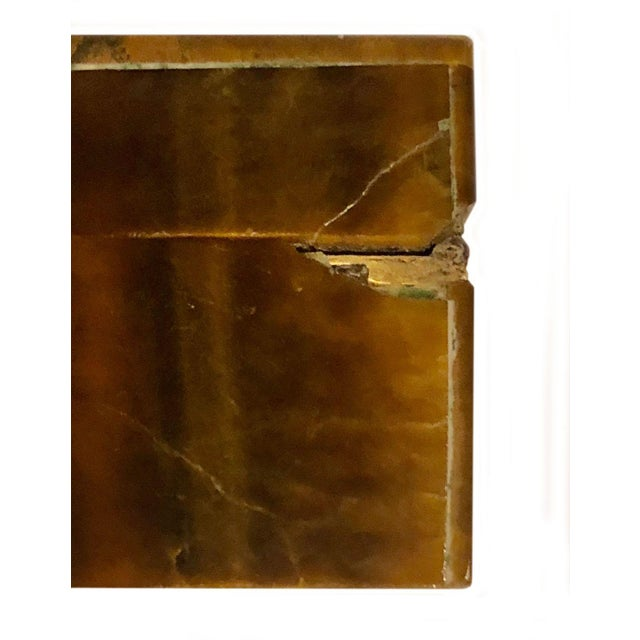 Stone 1950s Mid Century Tigers Eye Box For Sale - Image 7 of 11