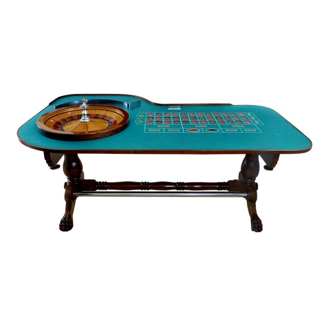 American Great Gatsby Era 1920s Mahogany Roulette Table From O'Dwyer's Casino For Sale