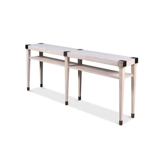 Modern Light Wood Console For Sale In New York - Image 6 of 6