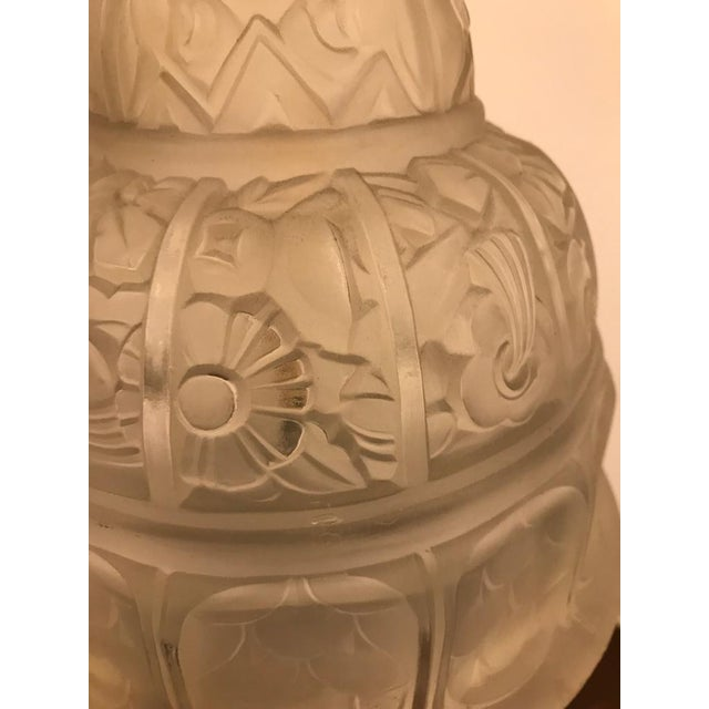 French Art Deco Table Lamp by Gênet et Michon - Image 6 of 10