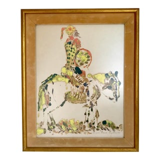 "1969 ""Don Quixote"" Mono-Print Signed Mary Lehman For Sale"