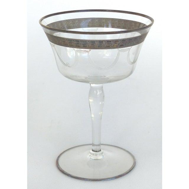 1930s 1930s-1940's Art Deco Stemware Glasses- Set of 28 For Sale - Image 5 of 10