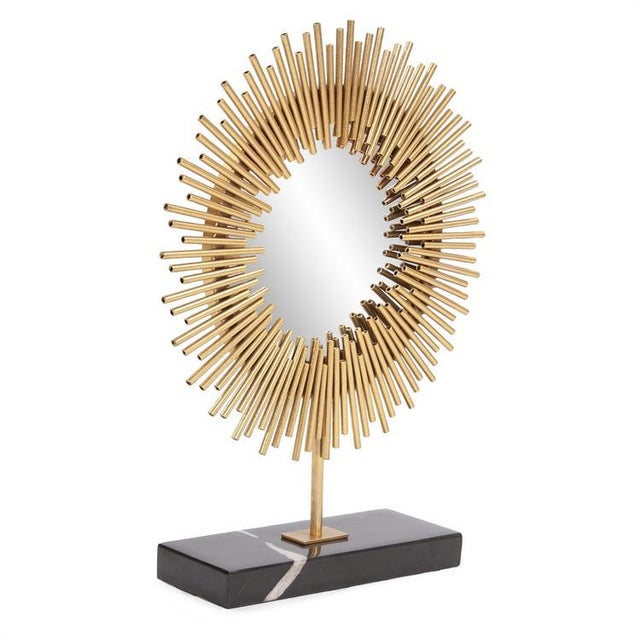 Kenneth Ludwig Chicago Kenneth Ludwig Chicago Sunburst Table Mirror For Sale - Image 4 of 5