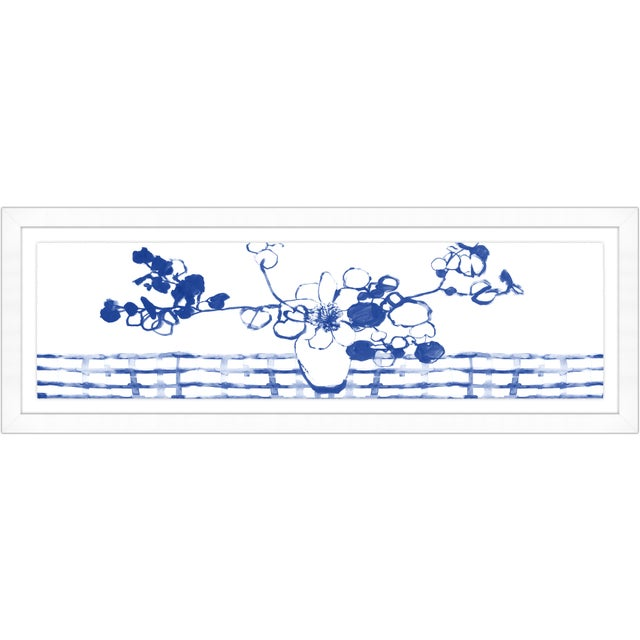 Kenneth Ludwig Chicago Sapphire Chinoiserie Print Set Framed Kenneth Ludwig Chicago - 17 Pieces For Sale - Image 4 of 12