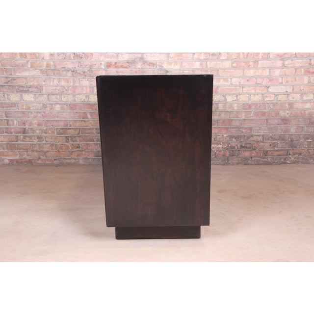 Edmond Spence Swedish Modern Ebonized Birch Dresser or Credenza, Newly Refinished For Sale - Image 12 of 13