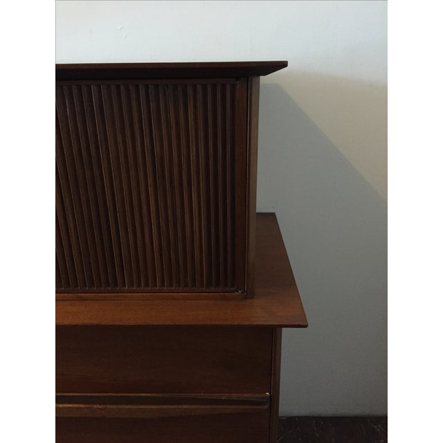 Mid Century Walnut Tall-Boy Chest - Image 3 of 9