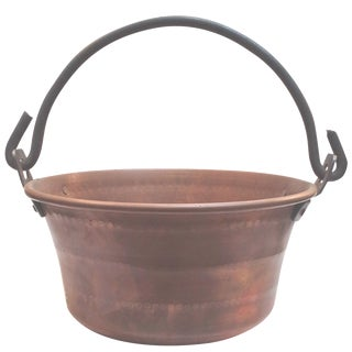 Vintage Solid Copper Cooking Pot For Sale
