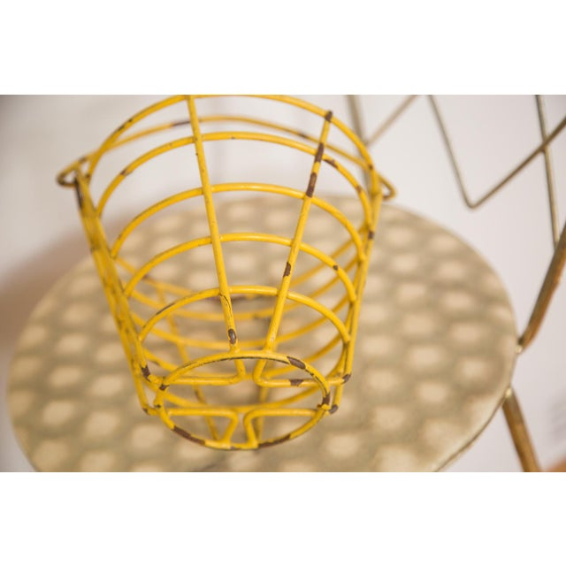 Small Vintage Yellow Egg Basket For Sale - Image 5 of 5