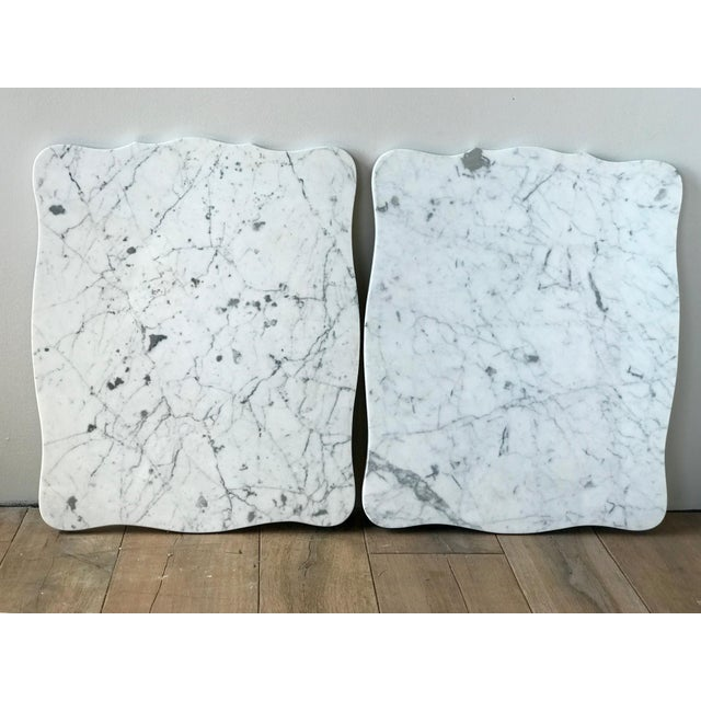 French Antique Hammary French Provincial Marble Side Tables - A Pair For Sale - Image 3 of 13