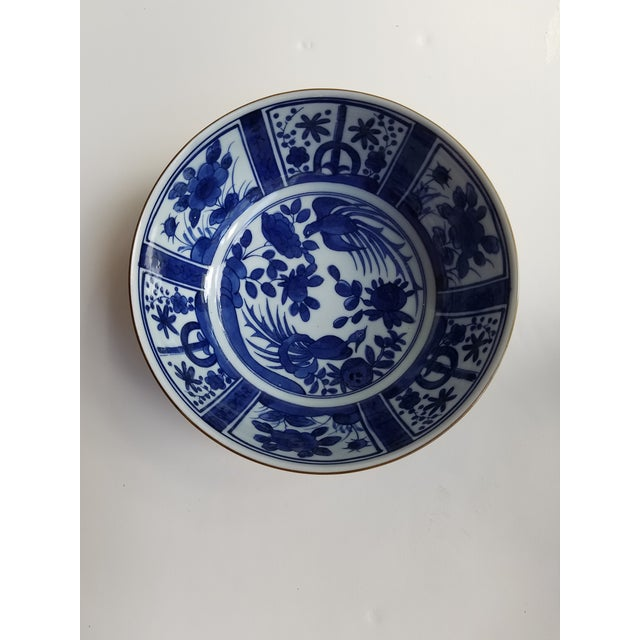 Ceramic Chinese Blue and White Hand Painted Porcelain Bowl For Sale - Image 7 of 7