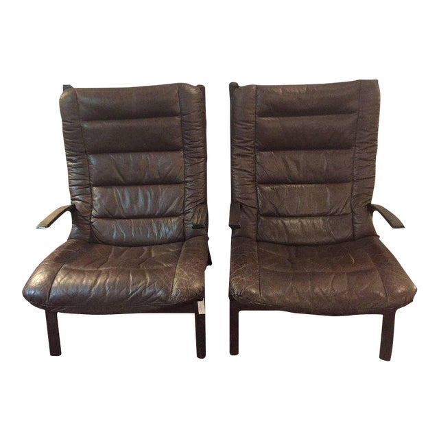 Pair of Mid-Century Modern Siesta Lounge Chairs by Ingmar Relling for Westnofa For Sale