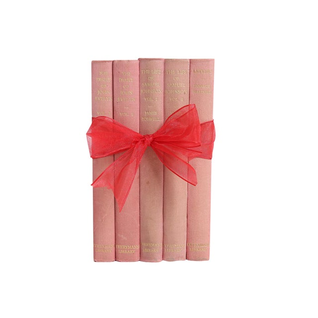"Vintage Book Gift Set: ""Pink"" Non-Fiction - Set of 5 - Image 1 of 4"