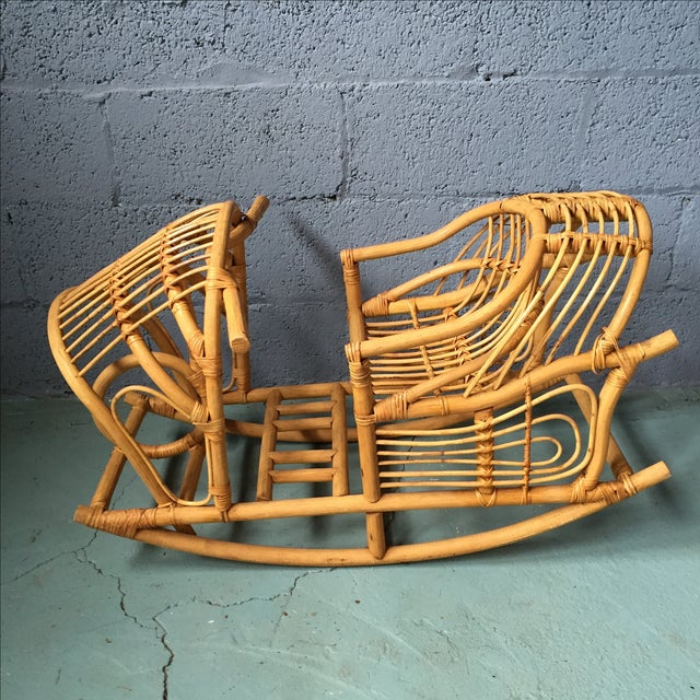 Vintage Child's Rattan Rocking Toy - Image 4 of 11