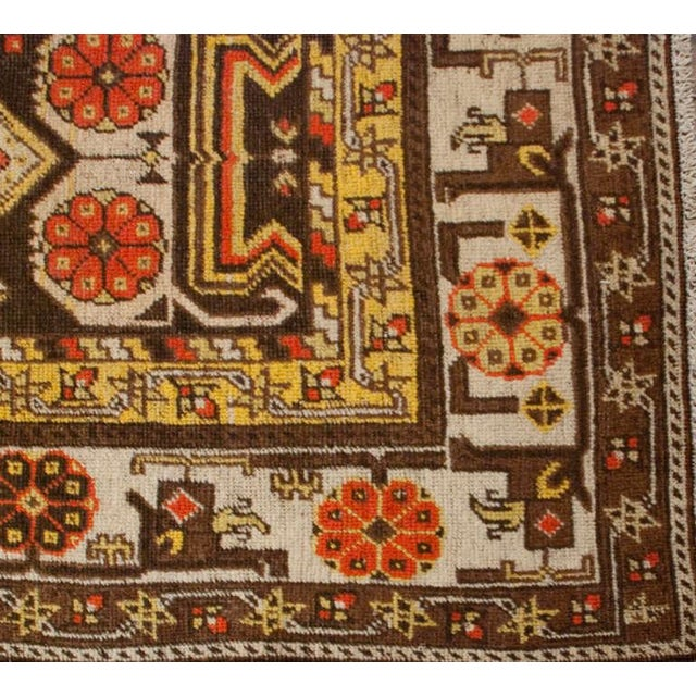 """Early 20th Century Khotan Rug - 60"""" x 102"""" For Sale - Image 4 of 6"""
