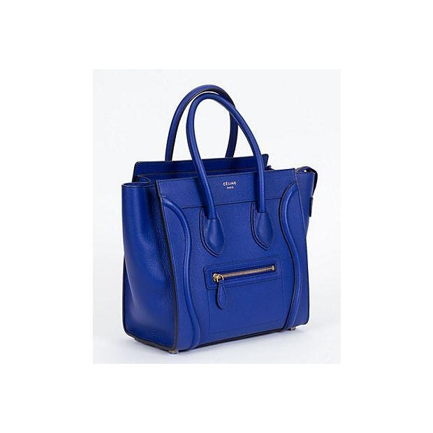 Blue Celine New Indigo Micro Luggage Bag For Sale - Image 8 of 10