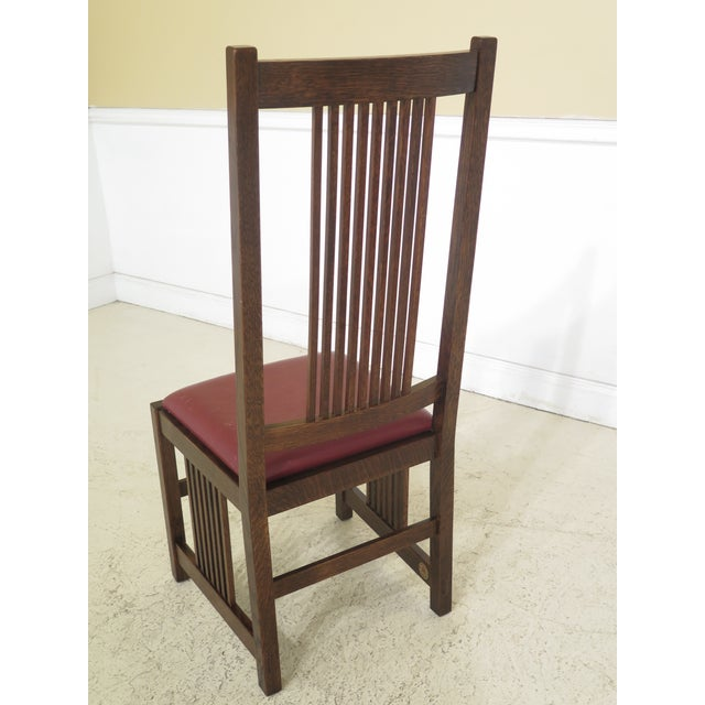 High Dining Room Chairs: 1990s Vintage Stickley Mission Oak High Back Dining Room