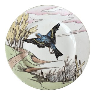 1900 English Bird Mintons Plate For Sale