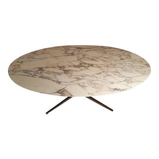 Florence Knoll Carrara Marble Dining Table For Sale