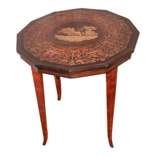 20th Century Italian Inlaid Side Table For Sale