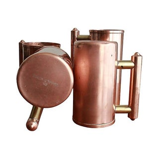 Eclectic Copper Mugs - Set of 4 For Sale