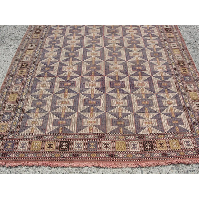 Vintage Turkish Kilim Rug - 6′5″ × 9′6″ - Image 4 of 11