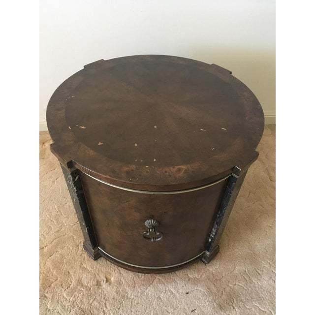 Classical Style Faux Marble & Laminate End Table - Image 3 of 6
