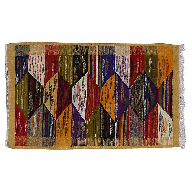 Moroccan Berber Kilim - 3'5'' x 2' For Sale