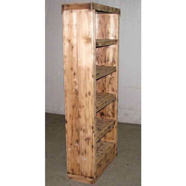 Rustic Tall Narrow Pine Rustic Book Case For Sale - Image 3 of 8