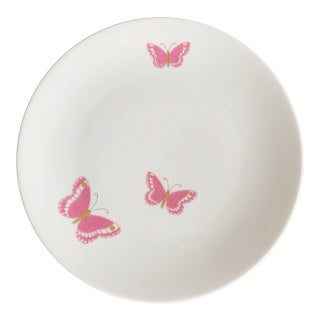 "Vintage Jean Luce Pink Butterflies Plates 7.5"" by Arzberg Bayern Porcelain Germany - Set of 8 For Sale"