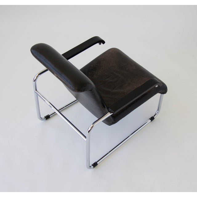 Marcel Breuer for Thonet B35 Leather Lounge Chair - Image 7 of 9